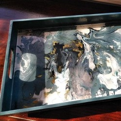 Resin Serving Trays Jos Arty Party Silver Tee