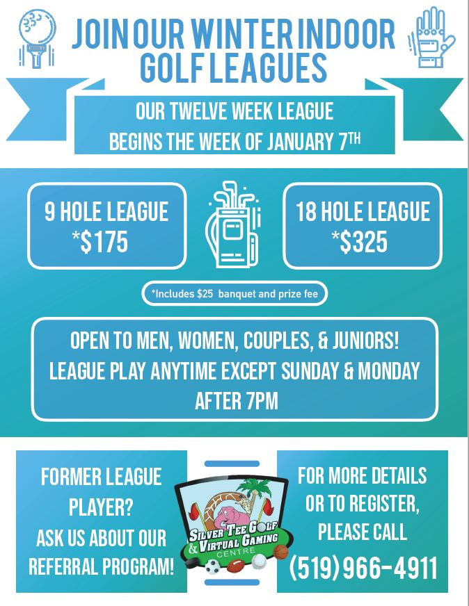 Winter Indoor Golf Leagues Windsor Essex Silver Tee