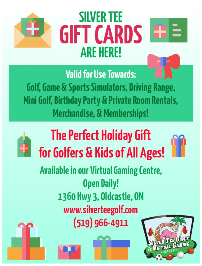 Silver Tee Gift Cards 2018