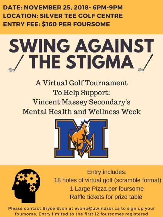 Swing Against the Stigma Indoor Golf Tournament Silver Tee