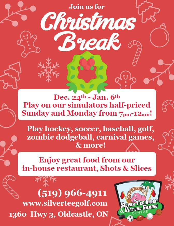 Christmas break fun things to do Windsor Essex Silver Tee Special