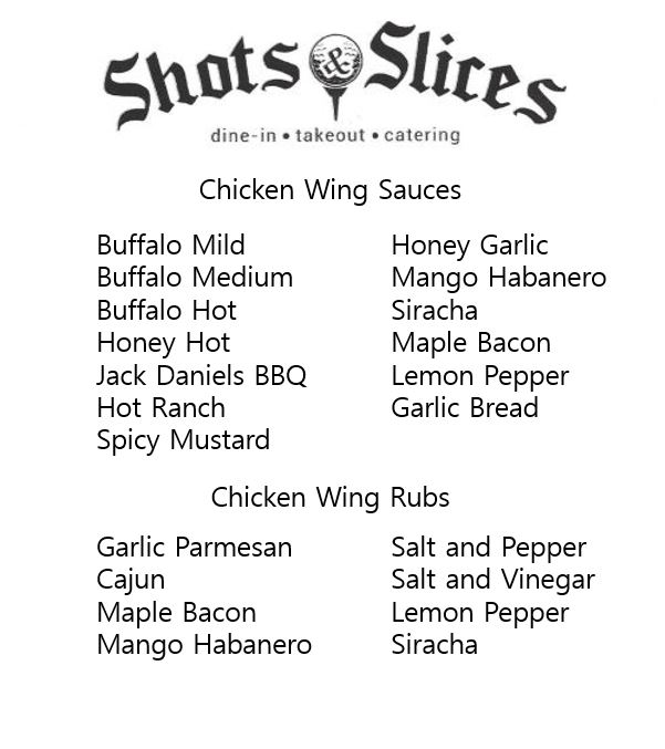 shots and slices chicken wings windsor essex oldcastle