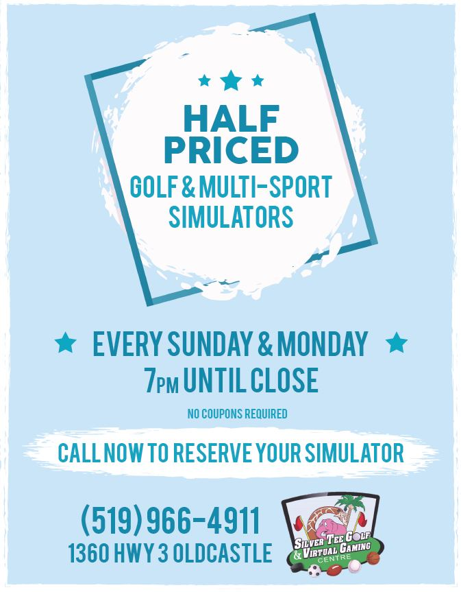 Half Price Nights At Silver Tee Fun things to do Windsor Essex
