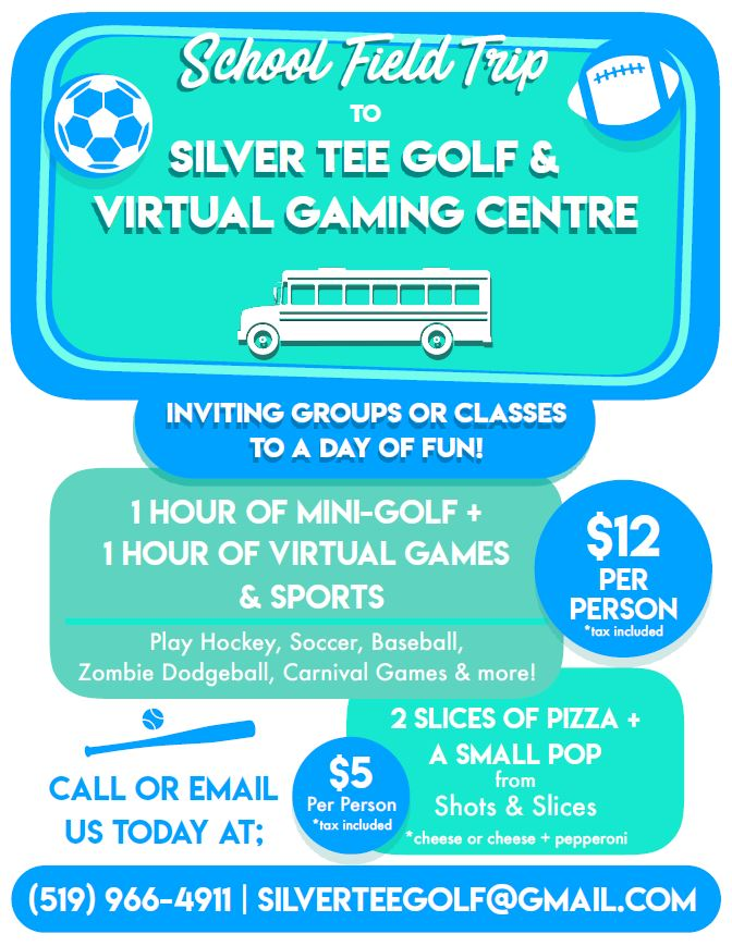 School groups field trip day care Windsor Essex Silver Tee 2019