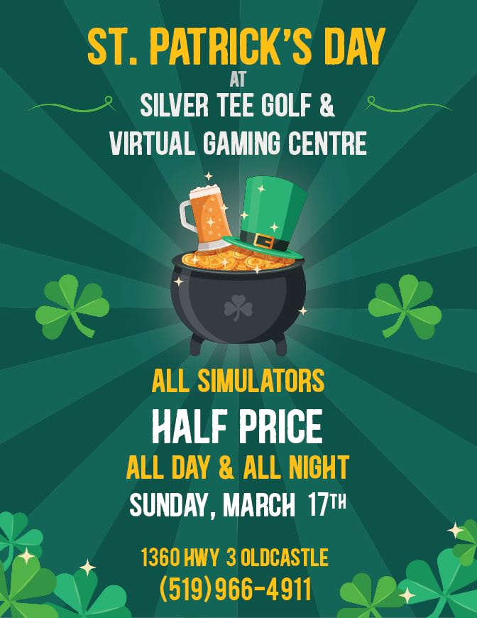 St Patrick's Day Fun Things Windsor Essex Silver Tee 2019