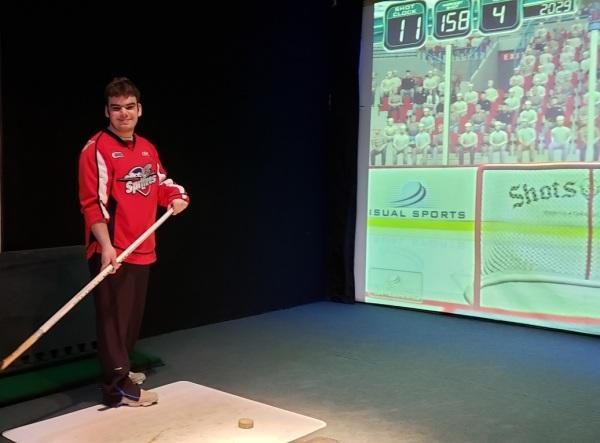 Kyle Windsor Spitfires Sponsor Silver Tee Mar 2019 Hockey