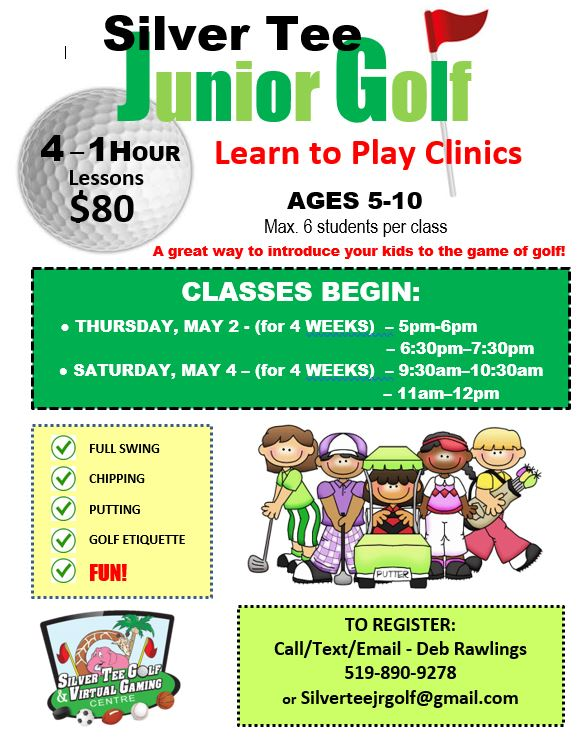 Silver Tee Junior Golf Lessons CLinics 2019