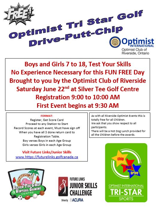 Optimist Club Drive Chip Putt Challenge Silver Tee June 2019