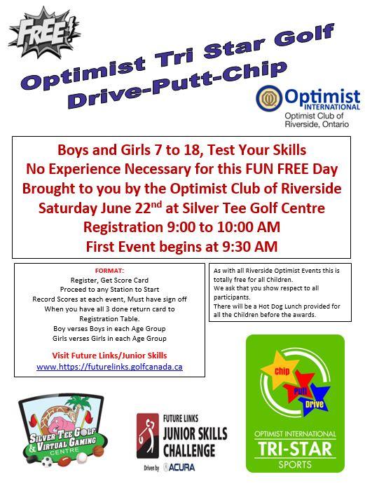 Optimist Club Drive Chip Putt Challenge Silver Tee June 2019