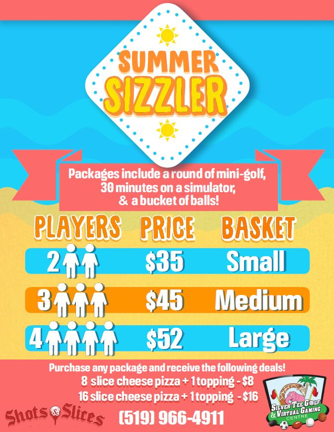 Summer Sizzler special rates silver tee 2019