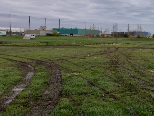 Wet driving range conditions Silver Tee Spring 2019