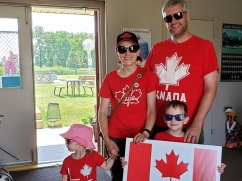 Silver Tee Canada Day fun Windsor Essex On