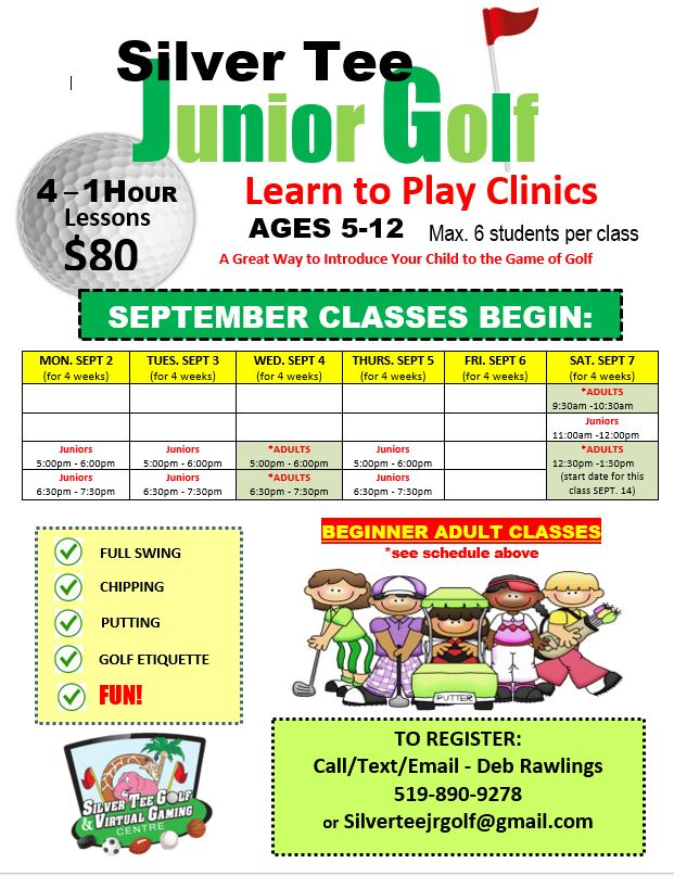 Sept 2019 Silver Tee Golf Lessons Clinics