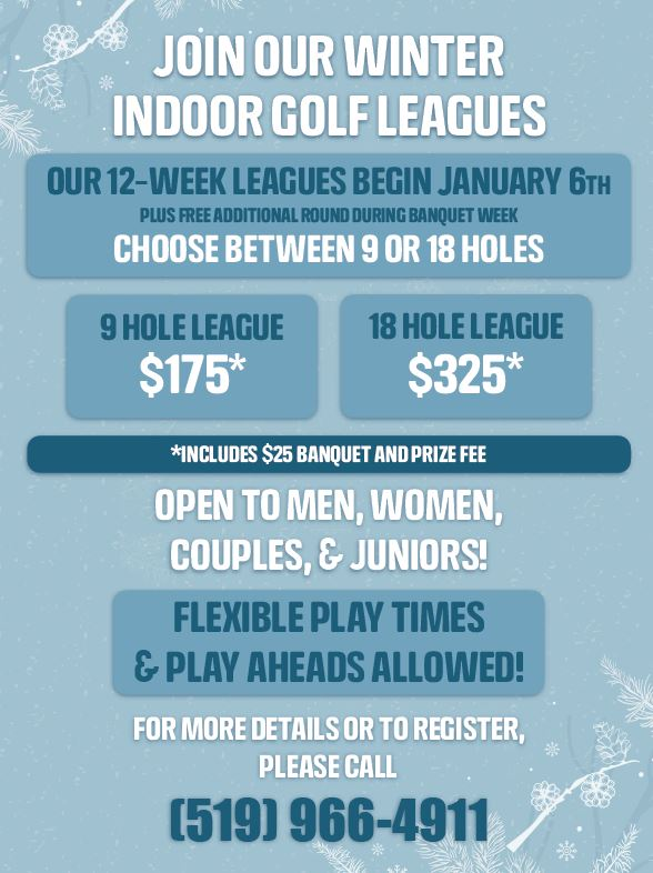 Winter 2020 Indoor Golf Leagues Silver Tee Windsor Full