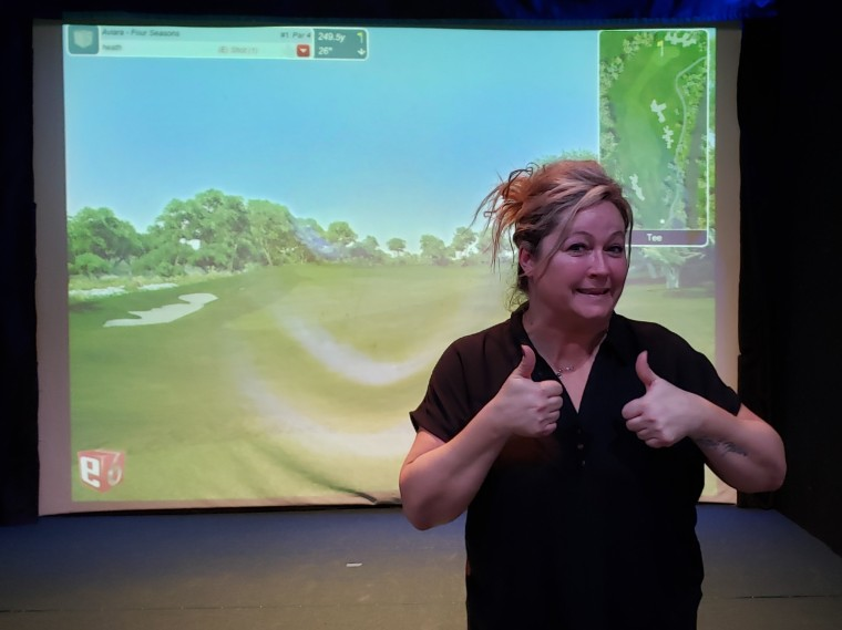 Heather Indoor Golf Hole in One