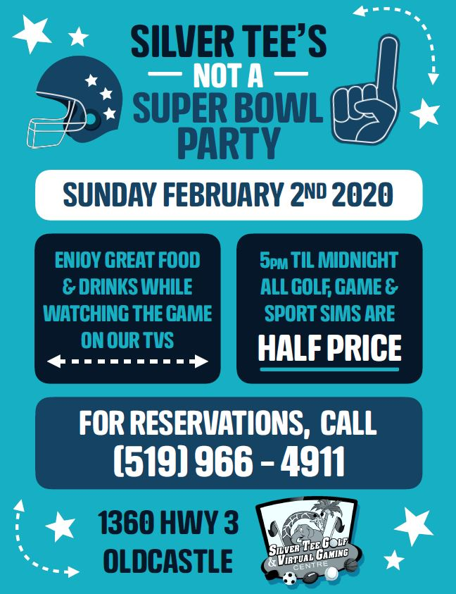 Silver Tee Super Bowl Windsor Fun Things 2020