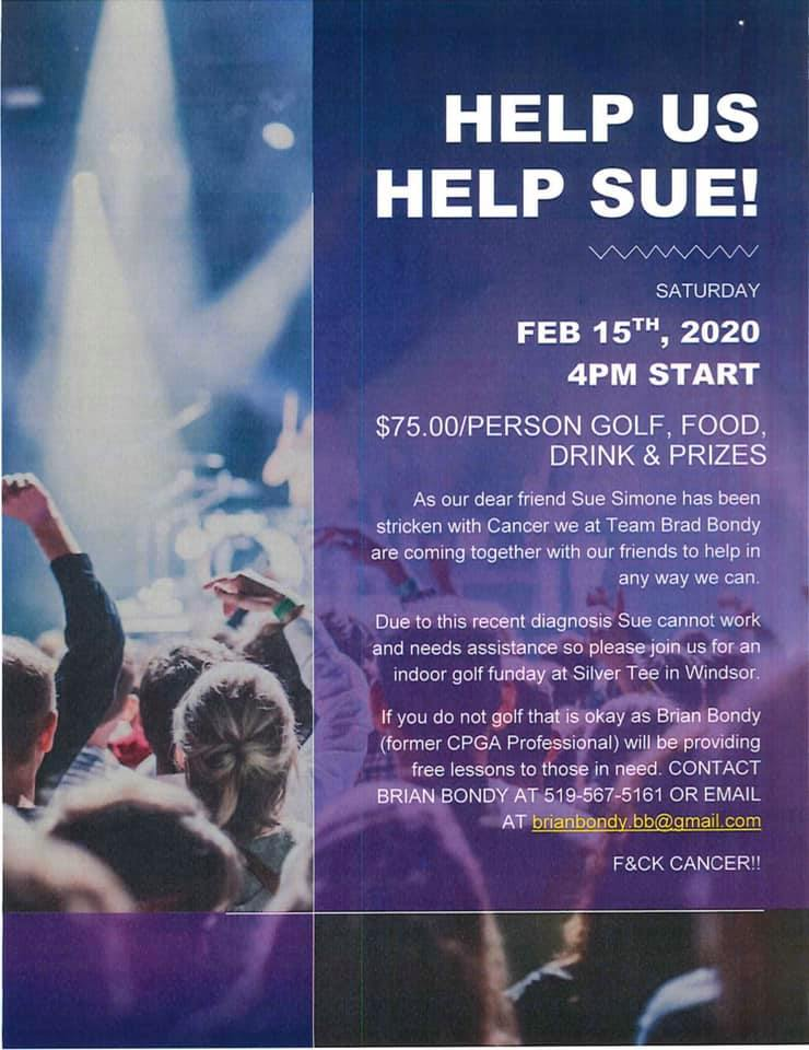 Sue Team Brad Bondy Golf Tournament Feb 2020