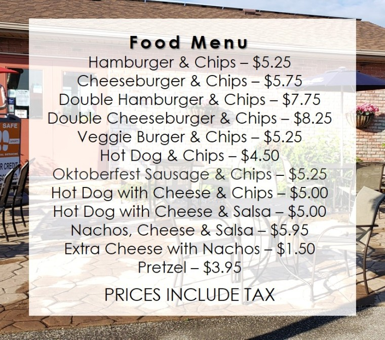 Updated Food Menu July Patio Silver Tee