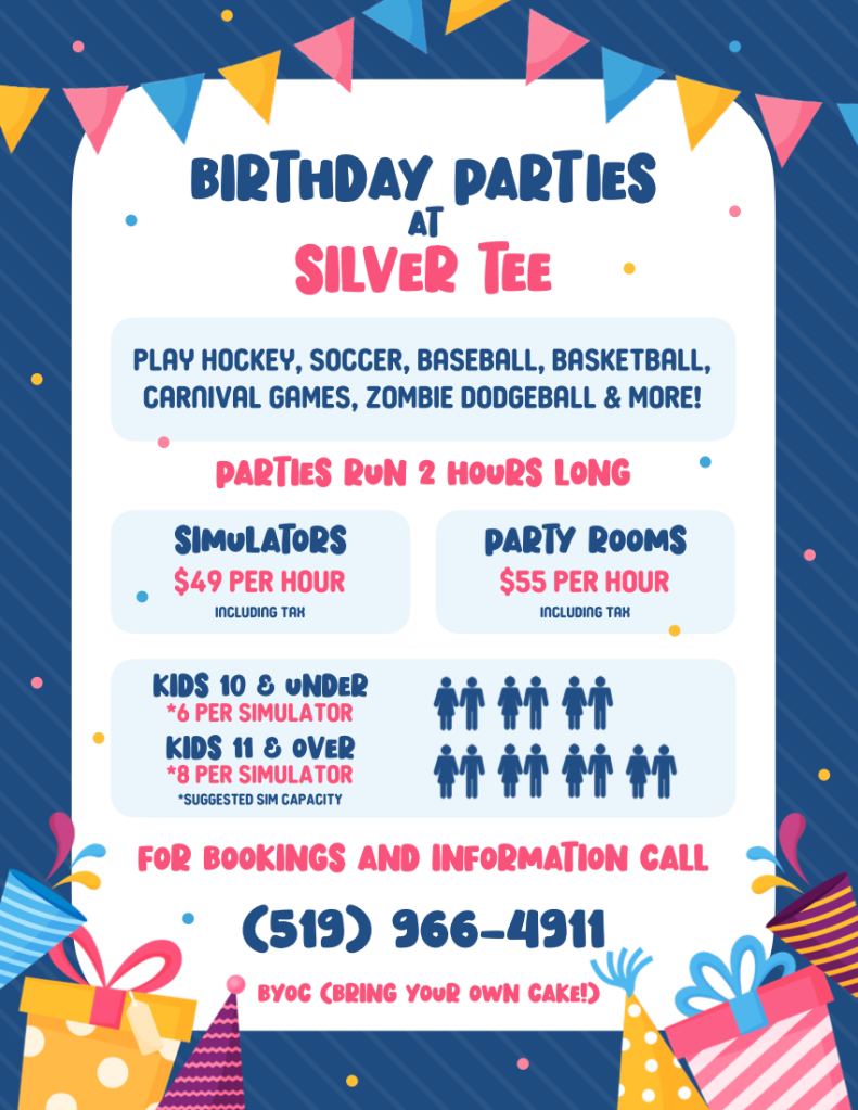 Birthday Party Fun Windsor Essex Silver Tee 2020 2021