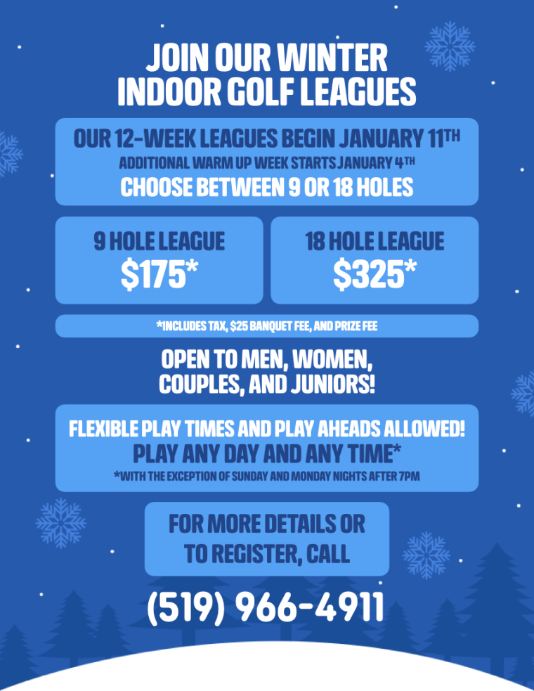 Indoor Golf Leauges Windsor Essex